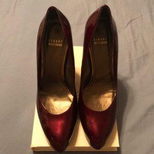 Stuart Weitzman burgundy wedges size 7